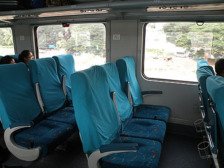 air conditioned chair car cc coaches in an shatabdi express