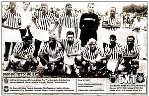 """1937 Copa dos Campeões Estaduais - """"Atlético Brazilian Champion.""""Gazeta Esportiva 3 February 1937."""