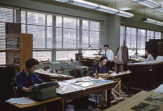 Graphic arts - Graphic artists at work during the 1960s