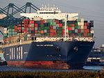 CMA CGM Laperouse (ship, 2010), Deurganckdok, Port of Antwerp, Belgium, pic2.JPG