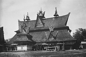 Geriten - Many geriten on top of this Batak Karo housing complex served as a kind of finials in Kabanjahe, North Sumatra.