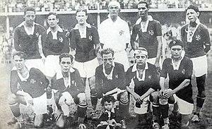 Jaguaré Bezerra de Vasconcelos - Vasco 1929: back: Tinoco, Brilhante, Itália, Jaguaré, Fausto, Mola; front: Pascoal, Oitenta-e-Quatro, Russinho, Mário Mattos, Santana