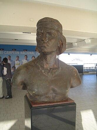 Colo-Colo - Colocolo bust at Estadio Monumental David Arellano