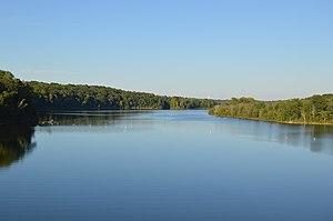 Caesar Creek State Park - Image: Caesar Creek Lake from spillway