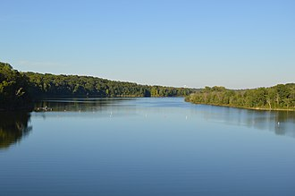 Caesar Creek State Park - Image: Caesar Creek Lake from spillway