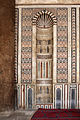 Cairo, cittadella, moschea di an-nasr mohammed, 1318-1335, mihrab 02.JPG