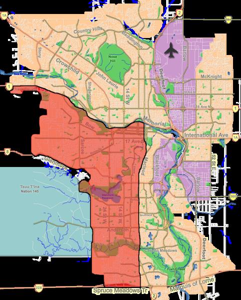 File:Calgary southwest quadrant outline map.png