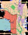 Calgary southwest quadrant outline map.png