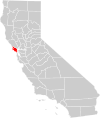 California county map (Marin County highlighted).svg