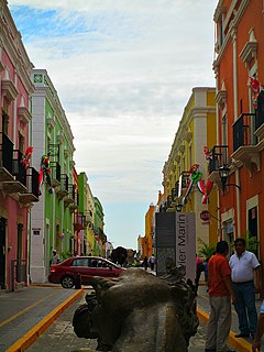 City in Campeche, Mexico