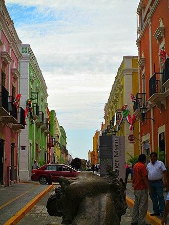 Campeche City - Image: Calles 59 panoramio