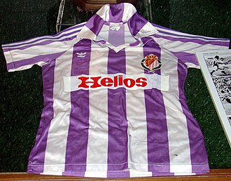 Real Valladolid - Uniform of the Real Valladolid in the season 1983/84, when it won his only official trophy: the 1984 Copa de la Liga.