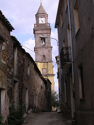 Ortueri - The bell-tower of San Nicola Church, Ortueri