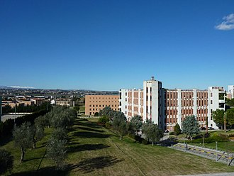 D'Annunzio University of Chieti–Pescara - Madonna delle Piane campus in Chieti as seen from the Citadel of Science