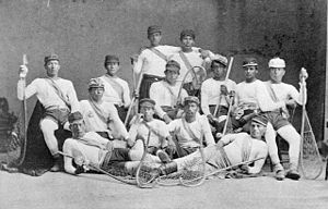 History of lacrosse - Men from the Mohawk Nation at Kahnawake (Caughnawaga) who were the Canadian lacrosse champions in 1869.
