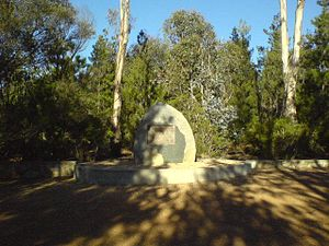 1940 Canberra air disaster - Memorial opened by Sir Robert Menzies in 1960 (20th anniversary)