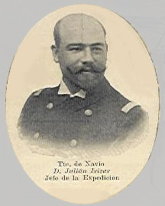Julián Irízar - Image: Capitan Julien Irizard Postcard Clip