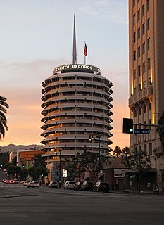 Capitol Records Building Hollywood Boulevard Commercial and Entertainment District building