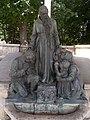 Capuchin monastery. Listed ID 7064. Outdoor altar. Saint Konrad statue, Lajos Krasznai work, 1934. - Máriabesnyő-Gödöllő, Hungary.JPG
