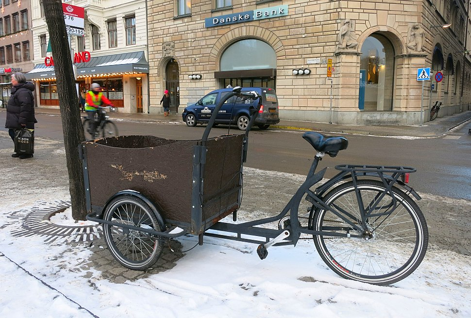 Cargo tricycle in Stockholm