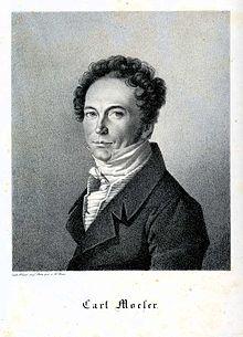 Carl Moeser, Lithographie von W. Beise nach einer Zeichnung von Franz Krüger, 1824 (Quelle: Wikimedia)