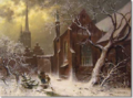 Carl Oesterley Hl. Geist Hospital im Winter mit dem Blick auf St. Jacobi und dem Pastorat,.png