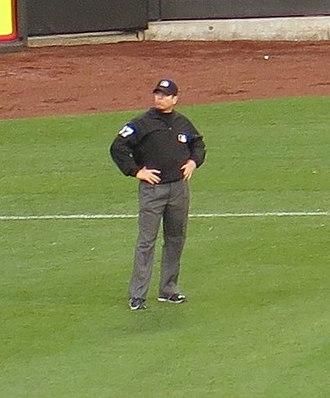 Carlos Torres (umpire) - Torres umpiring at Citi Field in 2016
