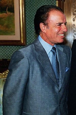 Carlos Menem, president of Argentina 1989-1999