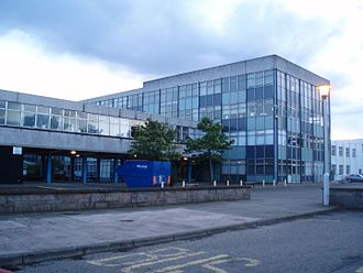 Carnoustie High School - Carnoustie High School in 2008, shortly before its demolition.