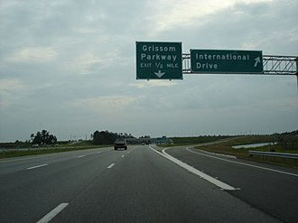 South Carolina Highway 31 - SC 31 at Grissom Pkwy going south