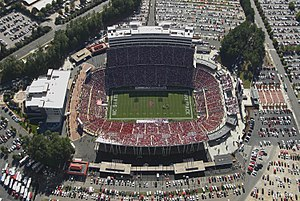 Sports in North Carolina - Carter–Finley Stadium, home football stadium for the NC State Wolfpack football team