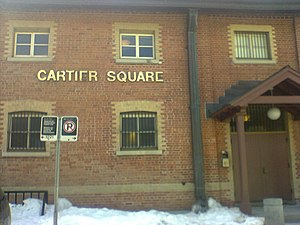 Cartier Square Drill Hall - Image: Cartier Square Drill Hall, side entrance, Ottawa, Ontario, Canada