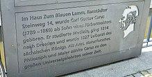 Gedenktafel in Leipzig (Quelle: Wikimedia)