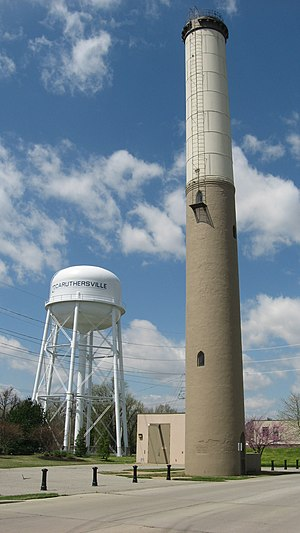National Register of Historic Places listings in Pemiscot County, Missouri - Image: Caruthersville water towers
