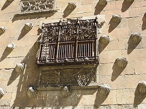Casa de las Conchas - Window in the facade