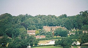 Catherston Leweston - Image: Catherston Leweston, manor and church from A35 bridge geograph.org.uk 502854