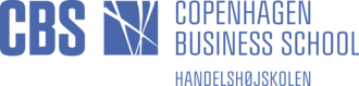 Copenhagen Business School - CBS logo horizontal 3 lines blue