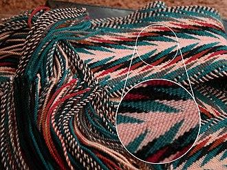 Fingerweaving - Arrowhead weave