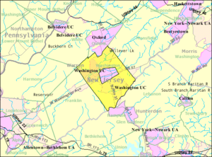 Washington Township, Warren County, New Jersey - Image: Census Bureau map of Washington Township, Warren County, New Jersey