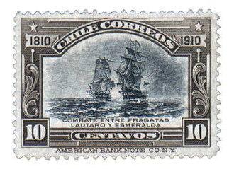 Chilean ship Lautaro (1818) - Image: Centenario chile 10 centavos