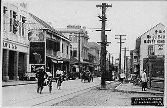 Charoen Krung Road - Postcard of Charoen Krung Road, c. 1910s–1920s