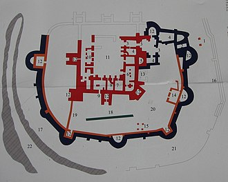 Suceava - Plan of the Seat Fortress of Suceava