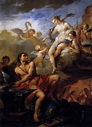 1734 in art - Image: Charles Joseph Natoire Venus Demanding Arms from Vulcan for Aeneas