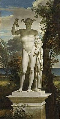 Charles Meynier, Statue de Mercure dans un paysage, (musée de la Révolution  française 69110fd1e15