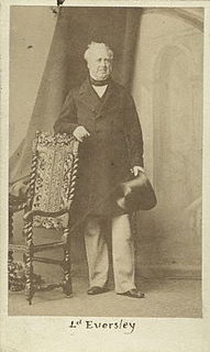 Charles Shaw-Lefevre, 1st Viscount Eversley British Whig politician