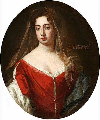 Charlotte Lee, Countess of Lichfield - Charlotte Lee, Countess of Lichfield, painted by Godfrey Kneller.