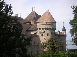 1816 in poetry - Château de Chillon where much of The Prisoner of Chillon takes place