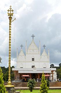 Cherpunkal town in Kerala, India