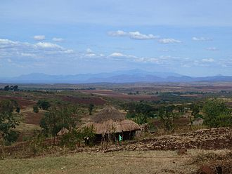 Great Rift Valley, Kenya - View of Uganda from Cherubei Village, Kenya