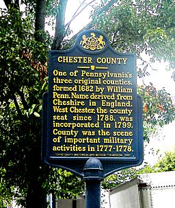 Chester County sign